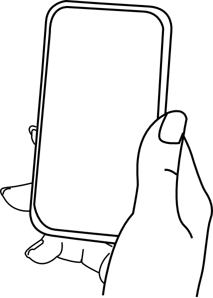 426x594 Iphone Hold 123 Clip Art