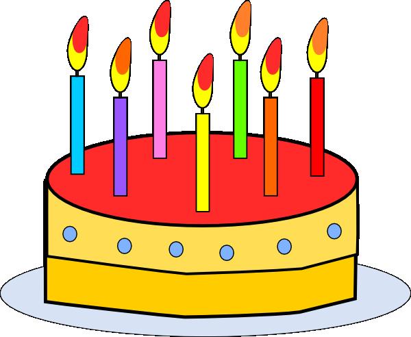 600x492 Birthday Cake Clip Art