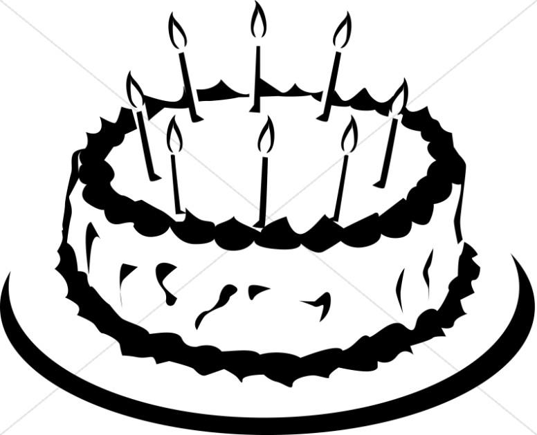 776x629 Black And White Birthday Cake Clip Art 101 Clip Art