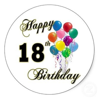 400x400 Happy 18th Birthday Clip Art