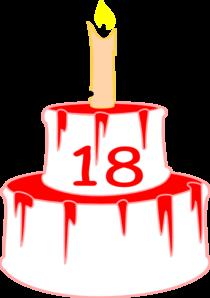 210x298 18bdaycake Candle Clip Art