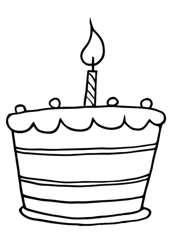 600x849 Birthday Cake Coloring Book Page