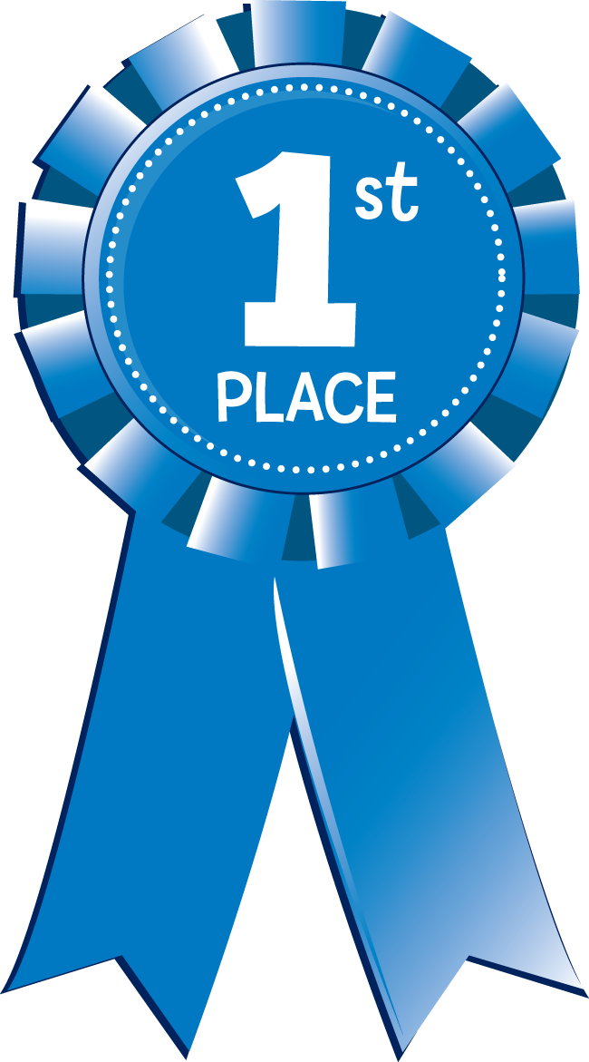 650x1171 1st Place Blue Ribbon Clipart
