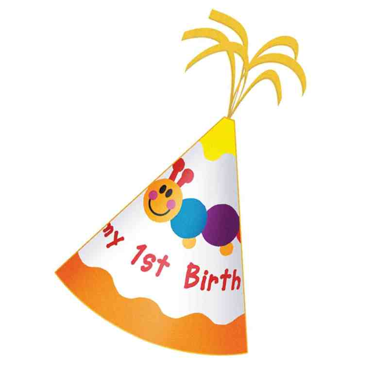 768x768 Child 1st Birthday Hat Clipart