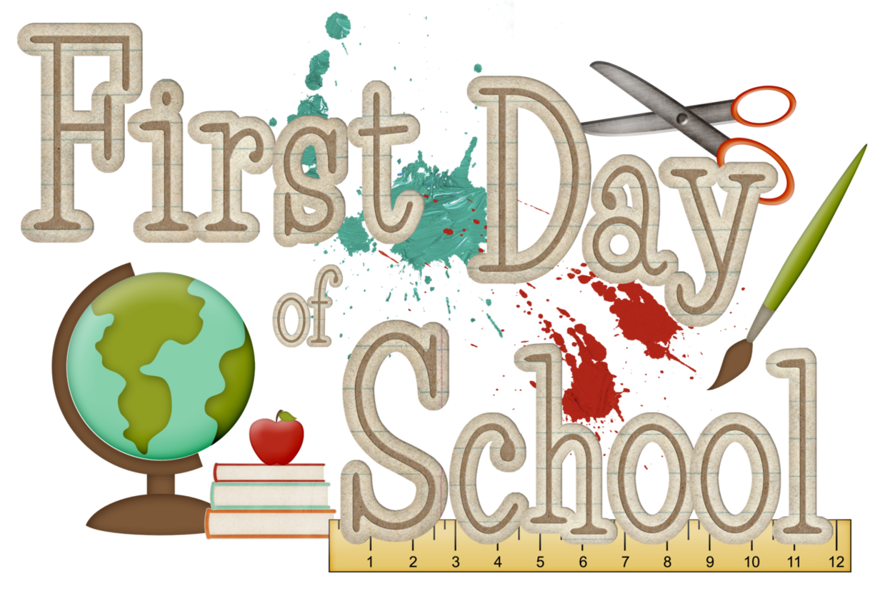 1239x838 First Day Of School Clipart