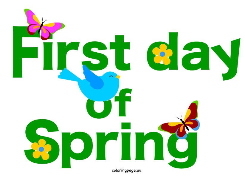 822x595 First Day Of Spring Clipart Many Interesting Cliparts