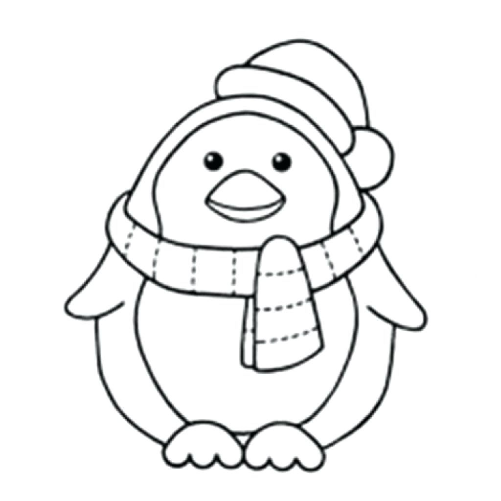 1024x1024 Cartoon Penguin Coloring Pages Activity Village For First Grade