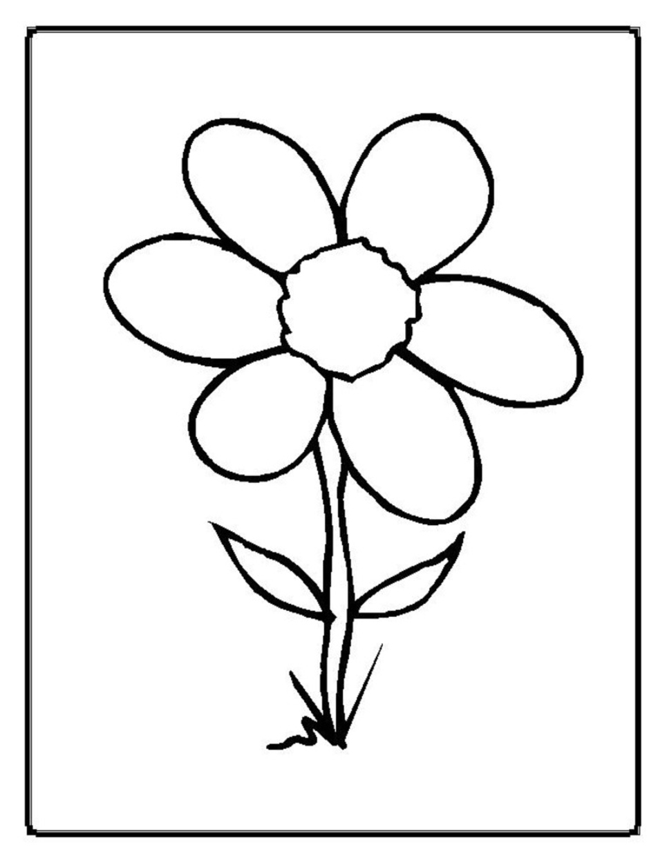 965x1249 Flower Coloring Pages