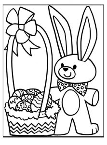 222x300 Happy Easter Coloring Pages For Kids