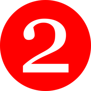 300x300 Red, Rounded,with Number 2 Clip Art