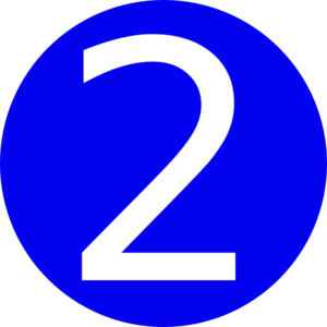 300x300 Blue, Rounded,with Number 2 Clip Art