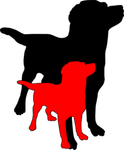 2 Dogs Clipart