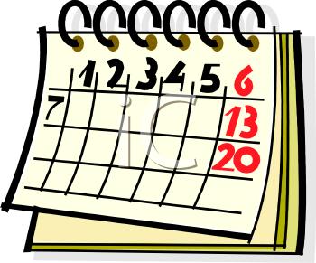 350x291 Free Clipart Calendar