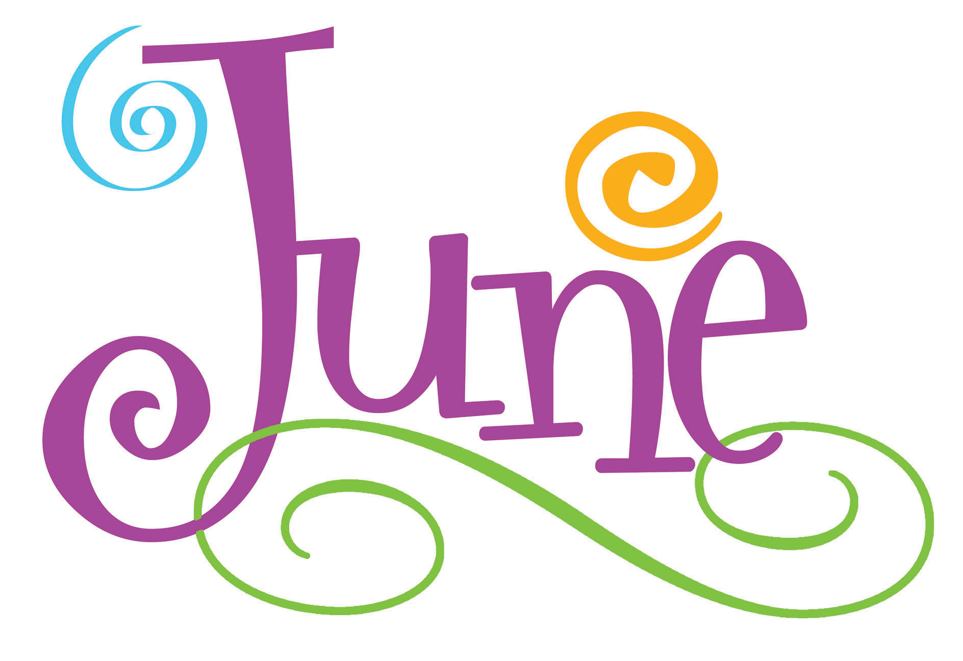 1888x1296 June Calendar Theme Clipart