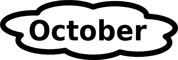 600x204 October Calendar 2016 Clip Art
