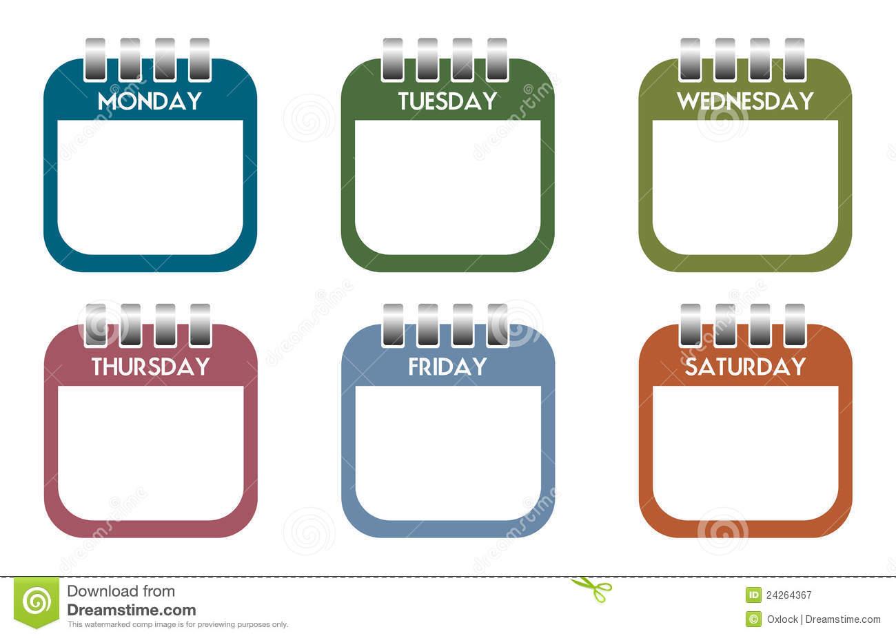 1300x926 Weekly Calendar Clipart