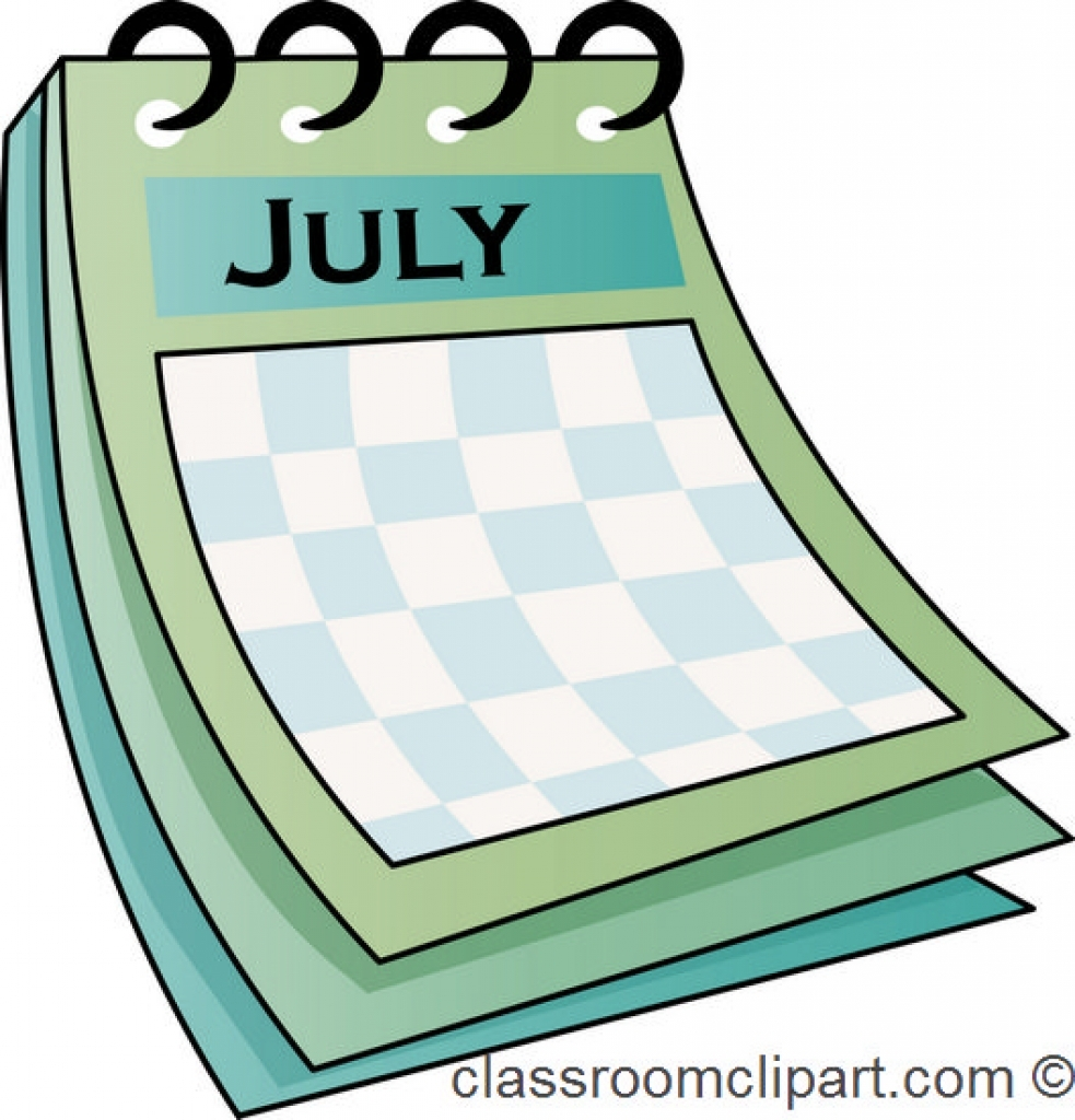 983x1024 Calendar Clip Art Clipart Bay Inside July Calendar Clipart July