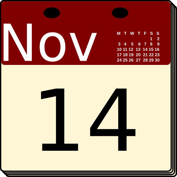 600x600 Calendar Clip Art