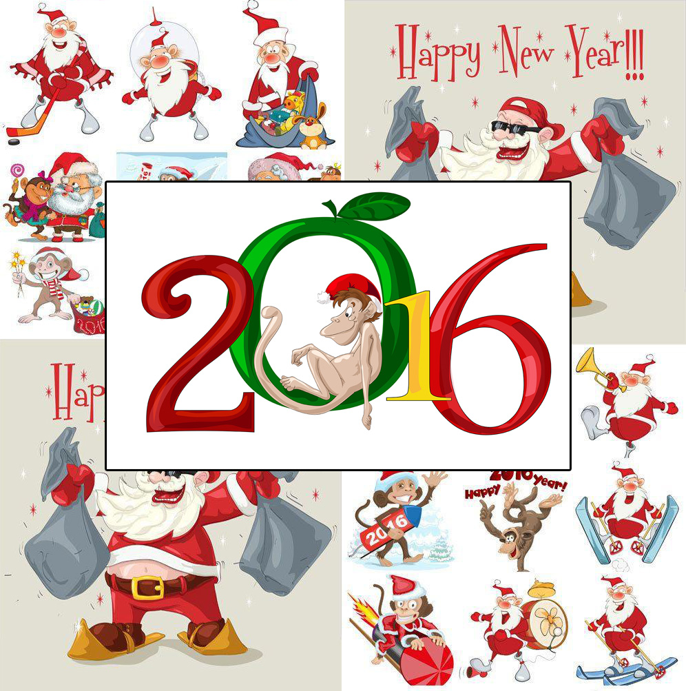 996x1003 Download Free Clip Art Vector Tag Happy New Year 2016