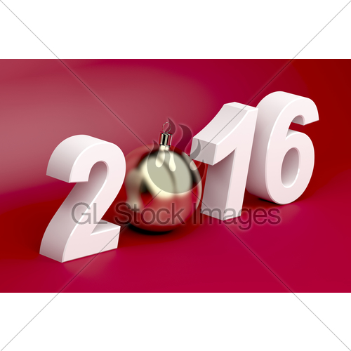 500x500 Happy New Year 2016 Gl Stock Images