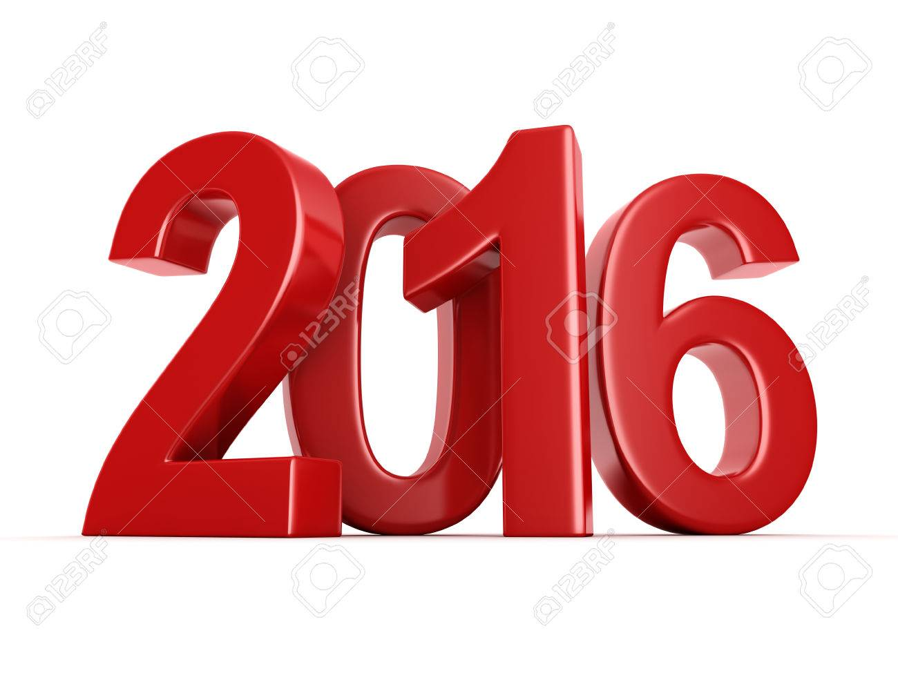 1300x975 Red 2016 New Year Digits On White Background Stock Photo, Picture