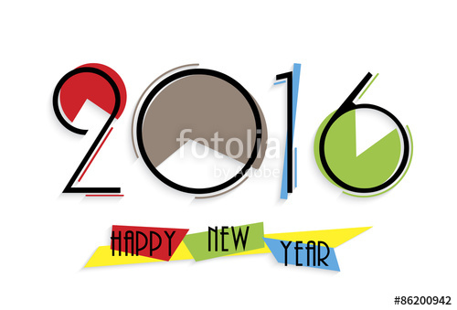 500x339 2016 Happy New Year Background For Your Greetings Card, Flyers