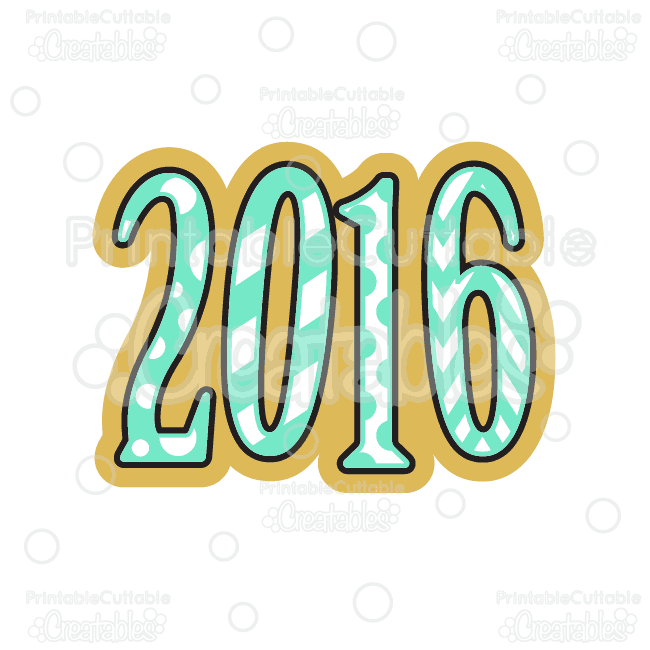 650x650 2016 New Year Svg Cutting File Amp Clipart