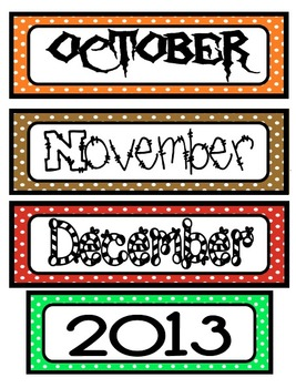 267x350 Calendar Month Labels With 2014 2018 Year Labels,12 Months Amp 0 9