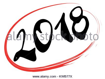 424x320 Calendar For 2018 Year Icon. Vector Illustration Stock Vector Art
