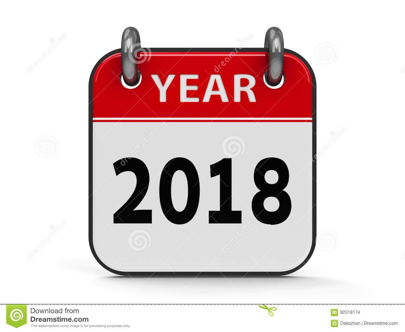 1300x1065 2018 Calendar Clipart