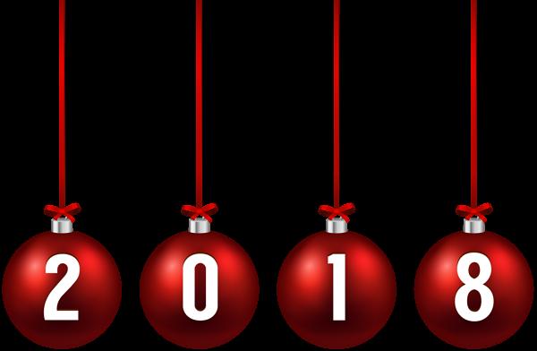 600x392 2018 Christmas Balls Png Clip Art Image 2018 Art