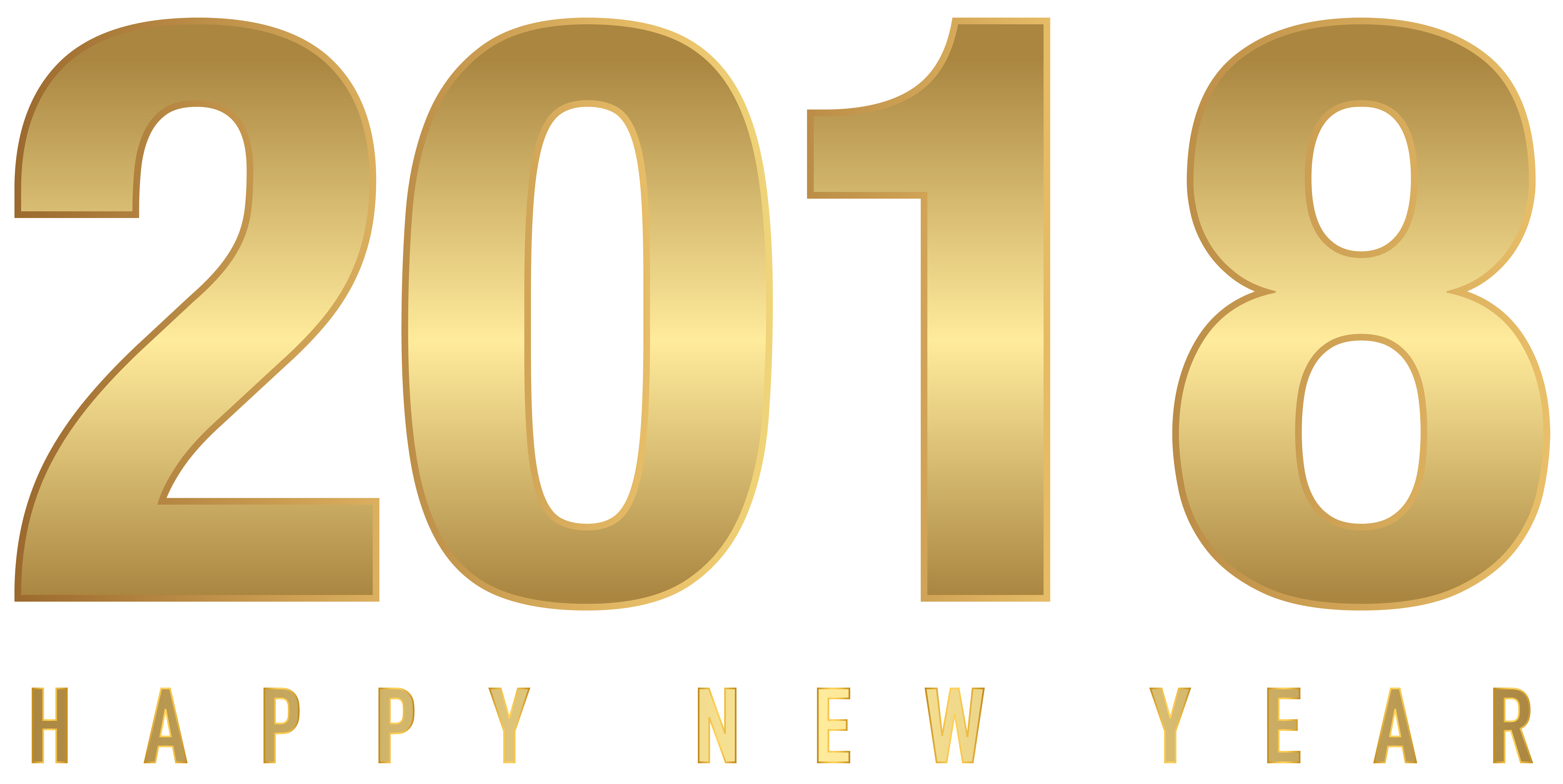 8000x4015 2018 Gold New Year Transparent Png Clip Artu200b Gallery
