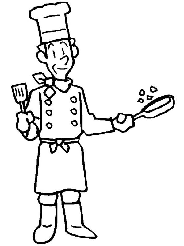 600x800 An Old Cook In Community Helper Coloring Pages Free Printable
