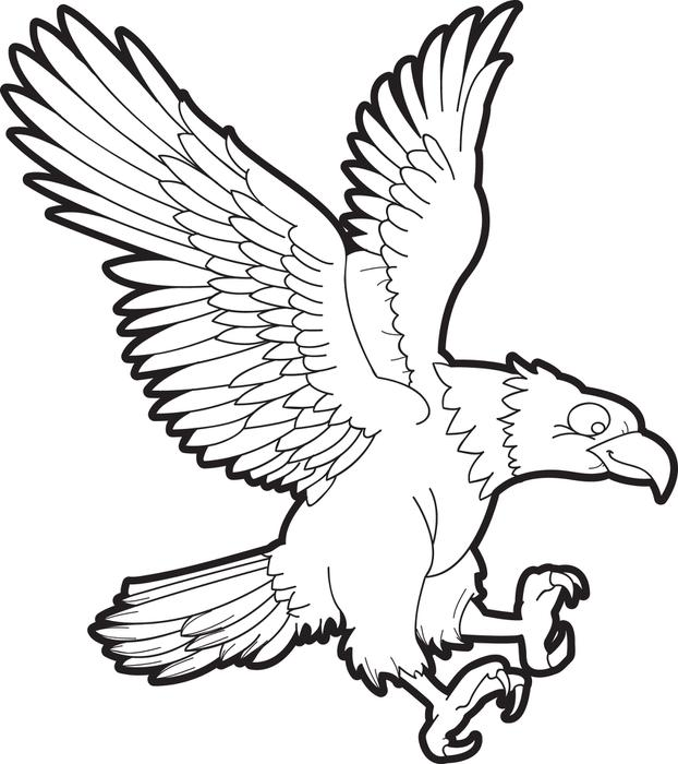 622x700 Free, Printable Bald Eagle Coloring Page For Kids