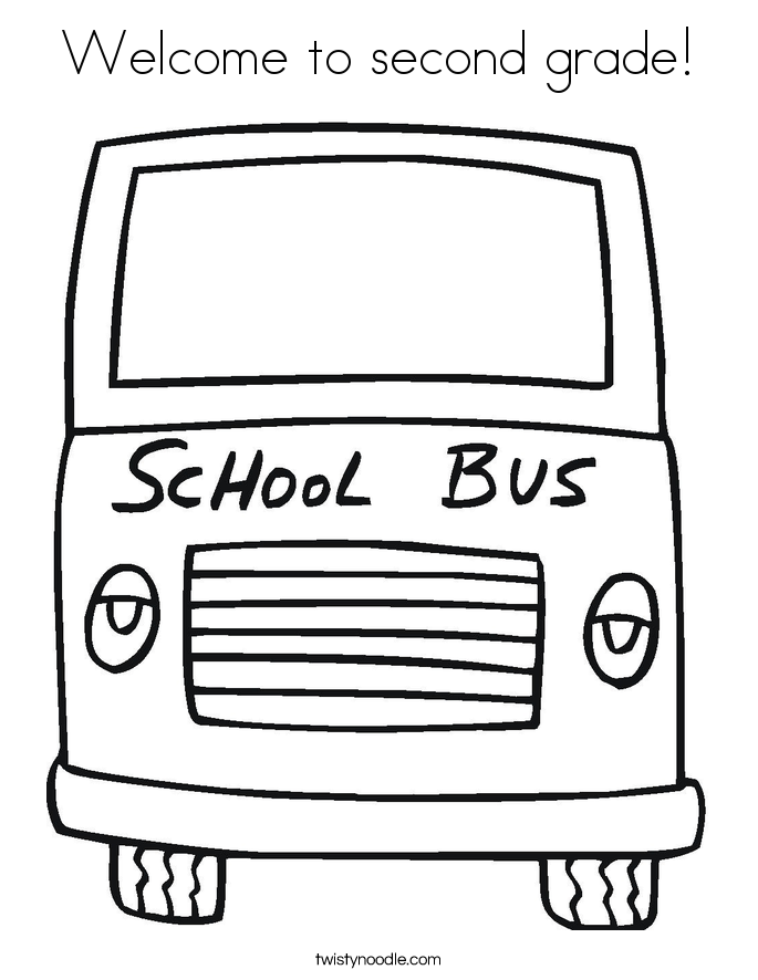 685x886 Welcome To Second Grade Coloring Page