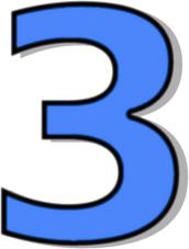 172x227 Number 3 Blue Clip Art Download