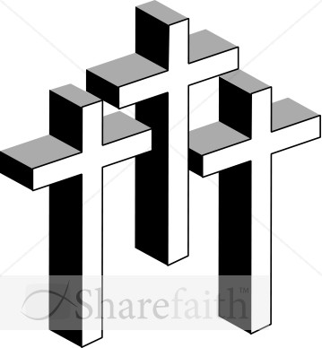 359x388 3 Crosses Clip Art Cliparts