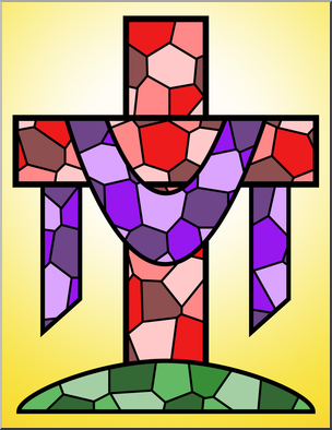 304x394 Clip Art Religious Cross 3 Color 1 I Abcteach