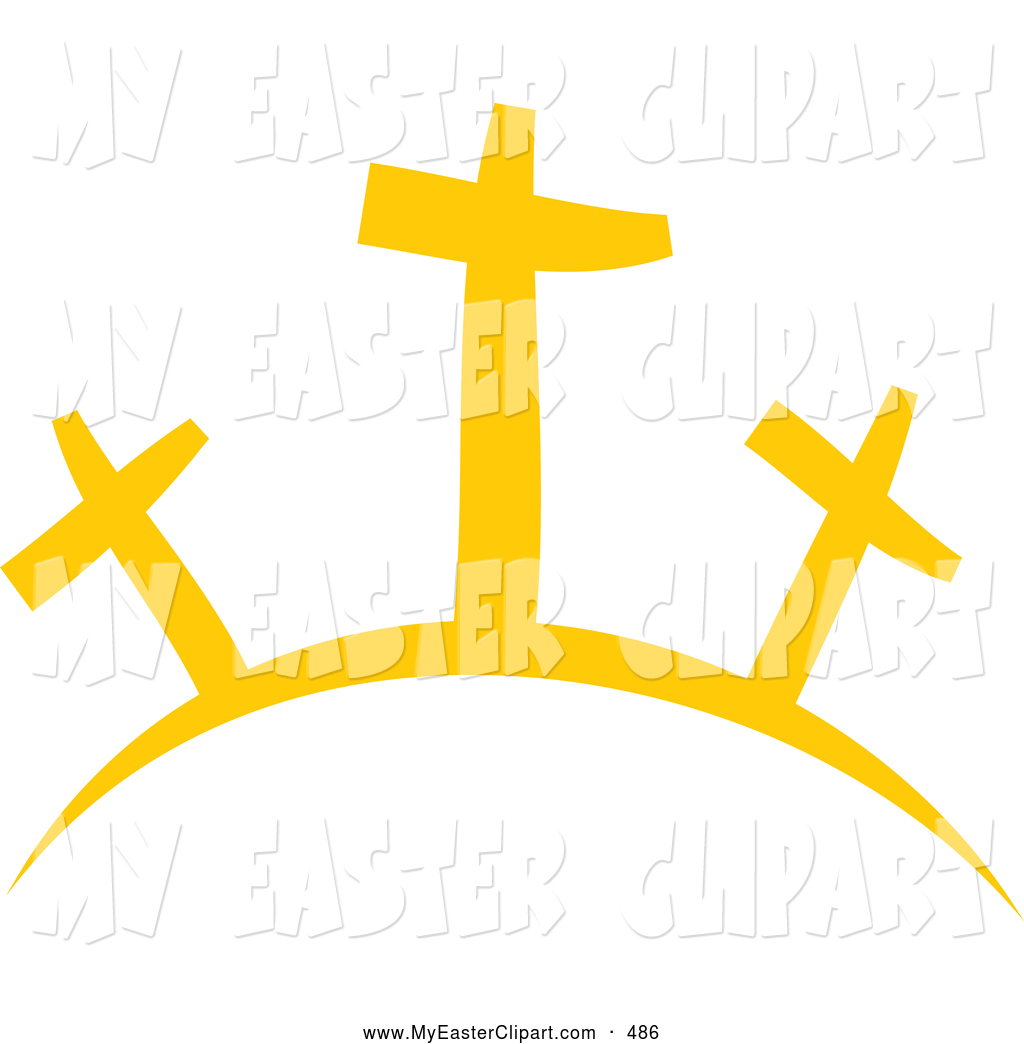 1024x1044 Clip Art Of A Group Of Three Crosses On A Hill By Prawny