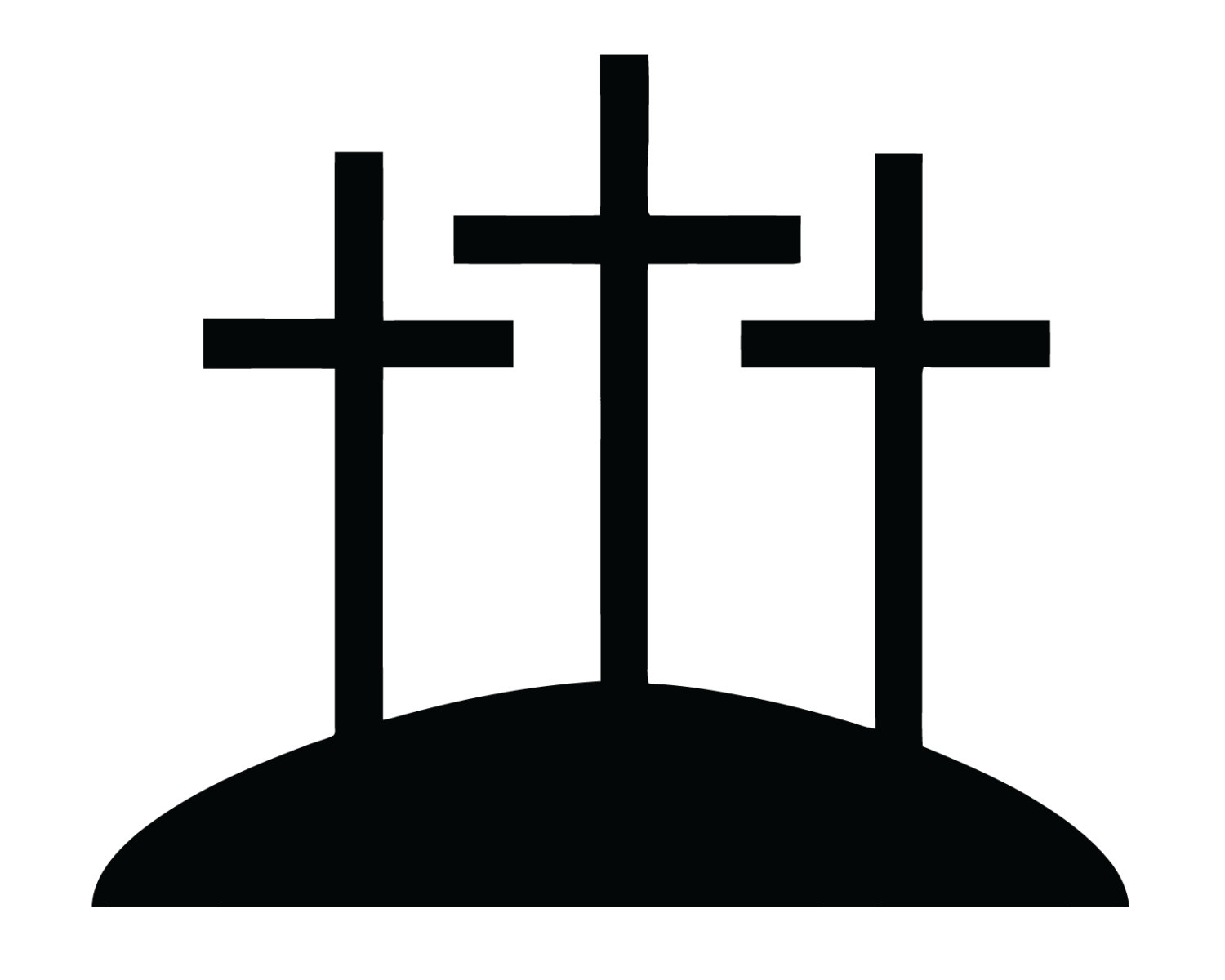 1500x1200 Crosses On A Hill Clipart