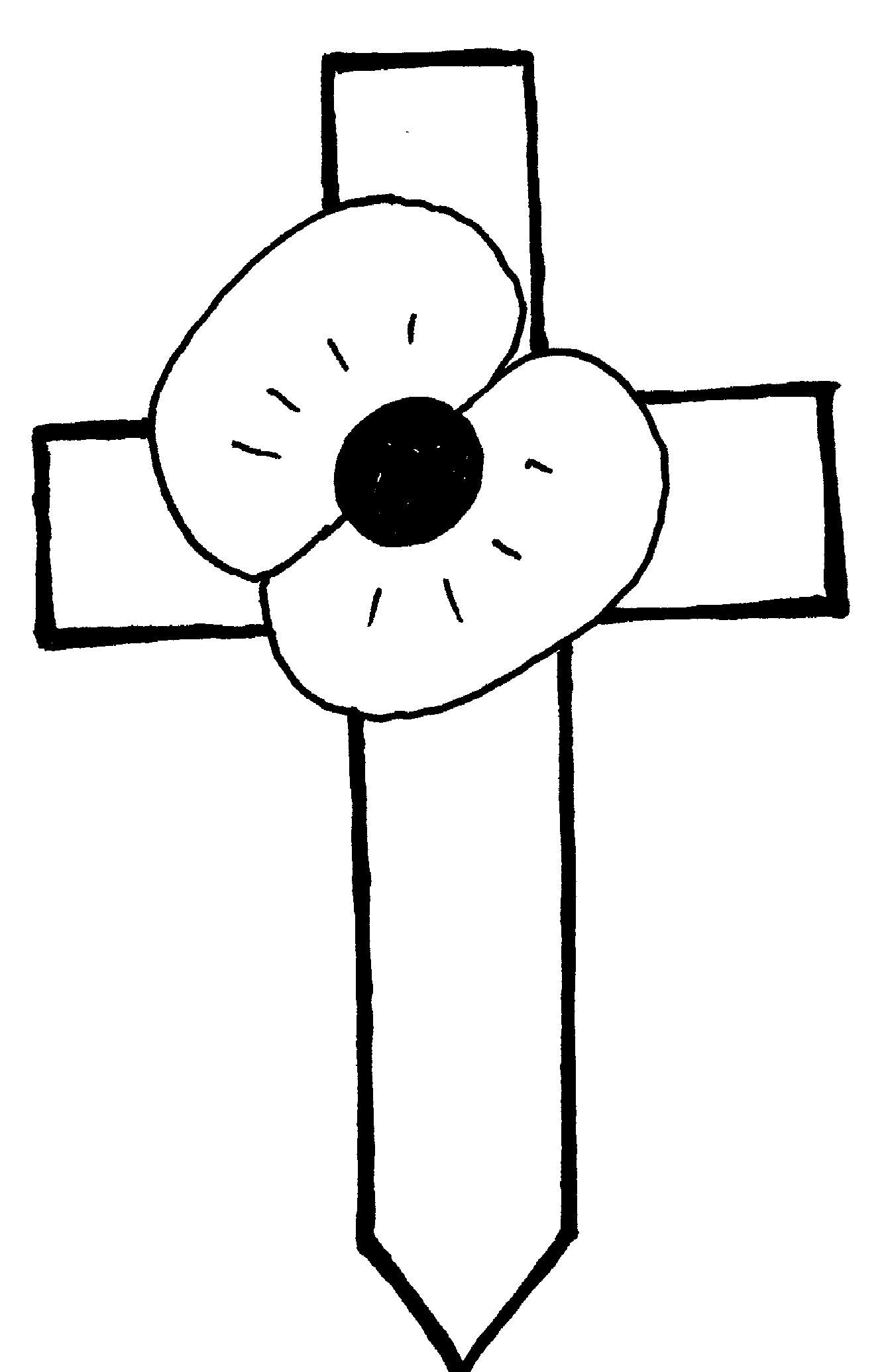 1334x2071 Cross Outline Clip Art