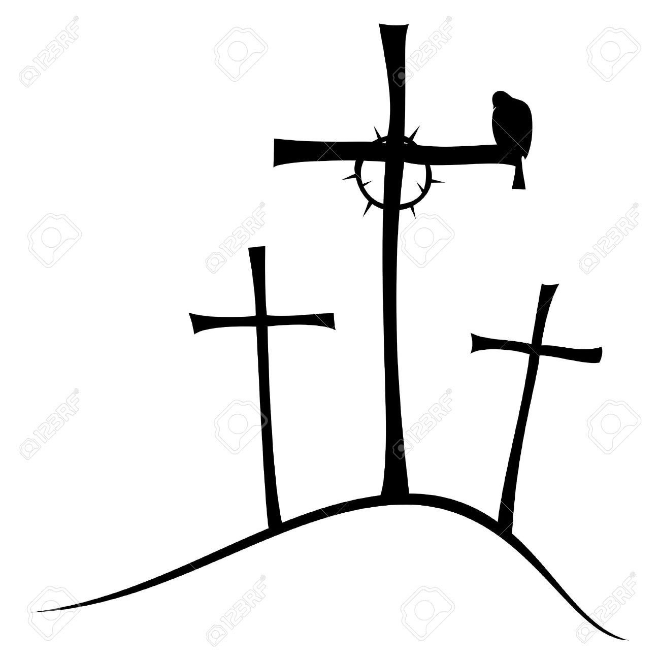 3 Crosses Clipart Free Download Best 3 Crosses Clipart On