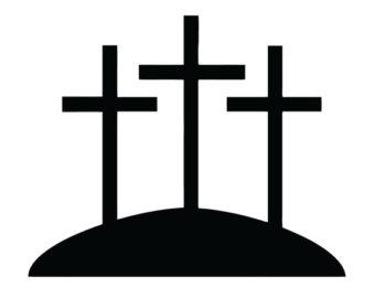340x270 Jesus Cross Decal Jesus Crucifix Bumper Sticker Christian