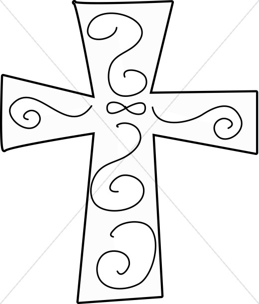 520x612 Line Art Crosses Cross Clipart