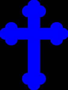 225x300 Royal Blue Cross Clip Art