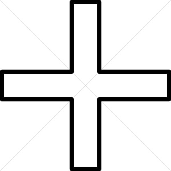 600x600 Three Crosses, Sunset Cross Clipart
