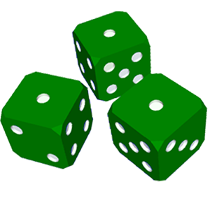 300x300 Dice Clipart Green