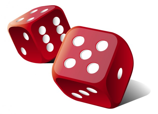 626x453 Dice Clipart Red