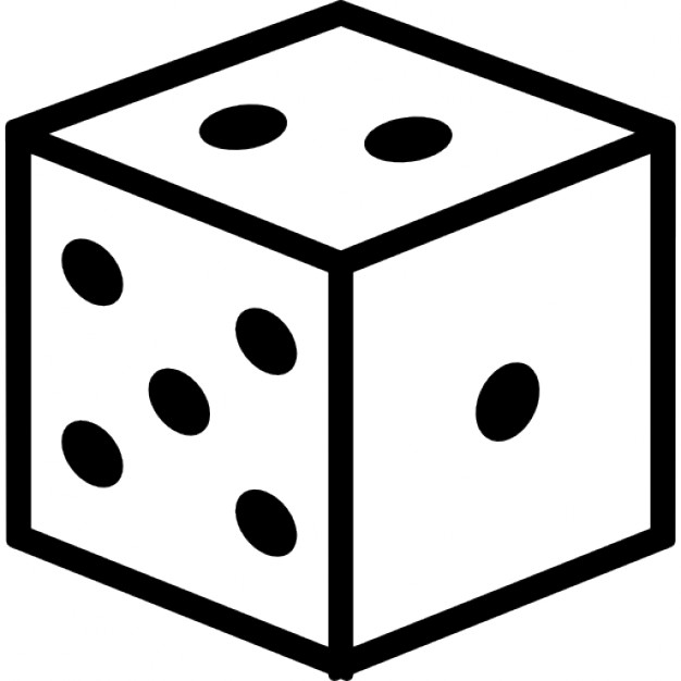 626x626 Dice Cube Outline Icons Free Download