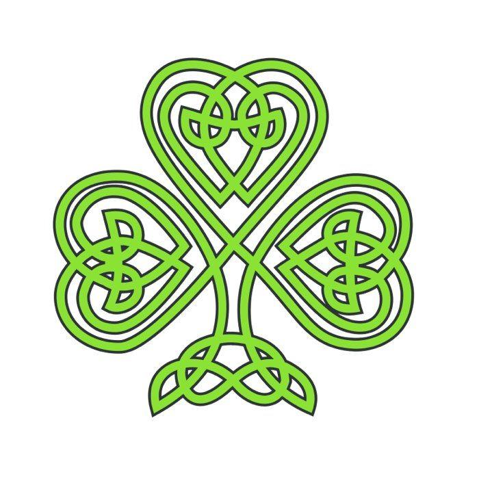 3 Leaf Clover Clip Art